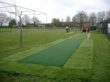 Artificial surfacing on practice wickets
